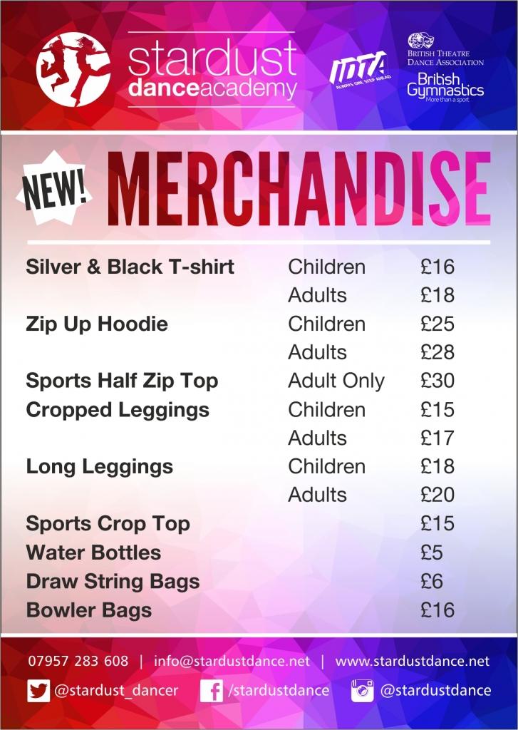 A6 Merchandise Jan 17